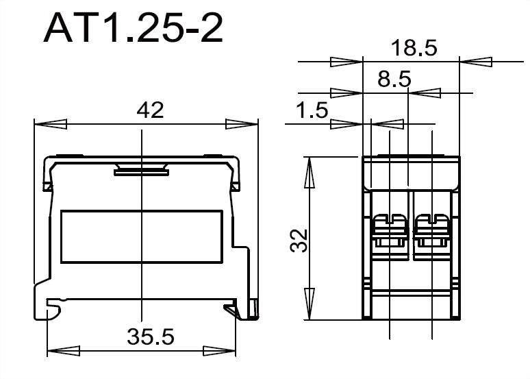 軌道組合式端子台 AT1.25-2