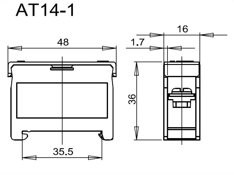 軌道組合式端子台 AT14-1