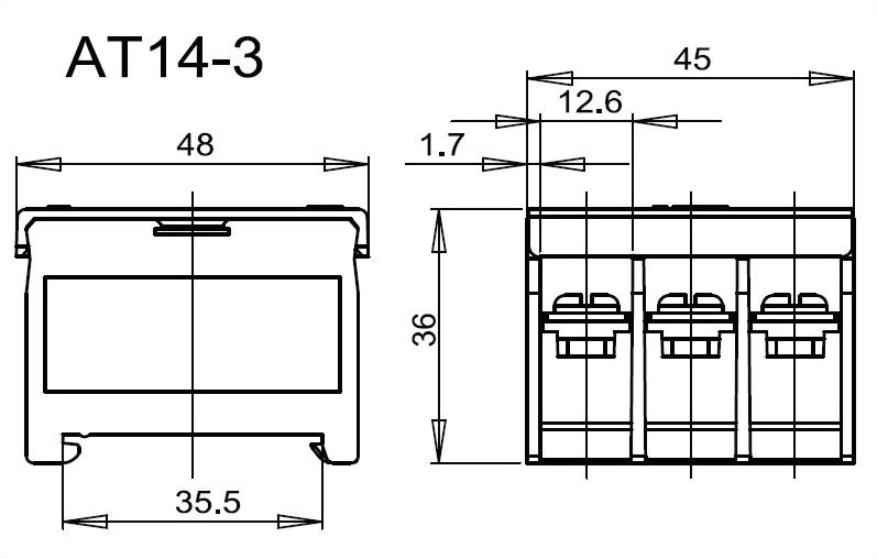 軌道組合式端子台 AT14-3