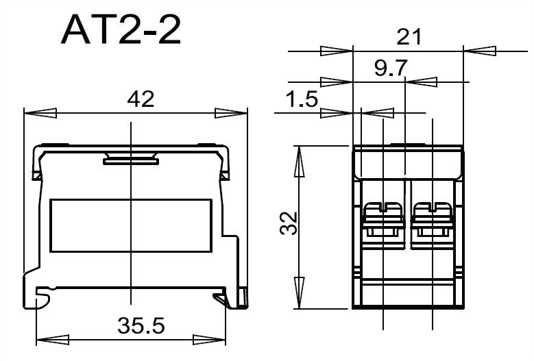 軌道組合式端子台 AT2-2