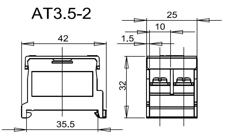軌道組合式端子台 AT3.5-2