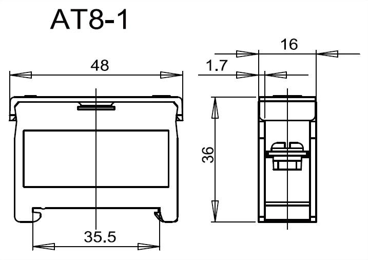 軌道組合式端子台 AT8-1
