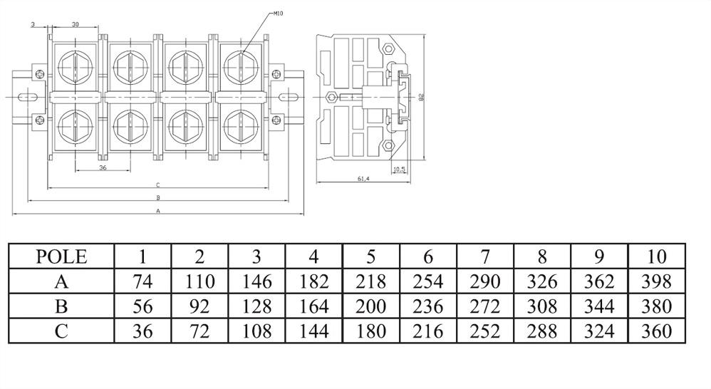 接線端子ATR系列DIN導軌型 ATR200
