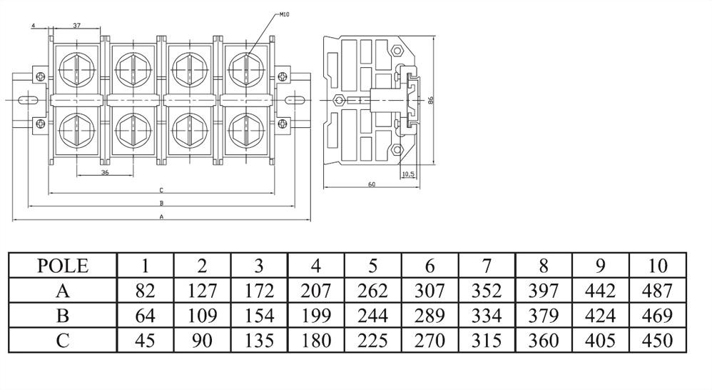 軌道固定式端子台 ATR300