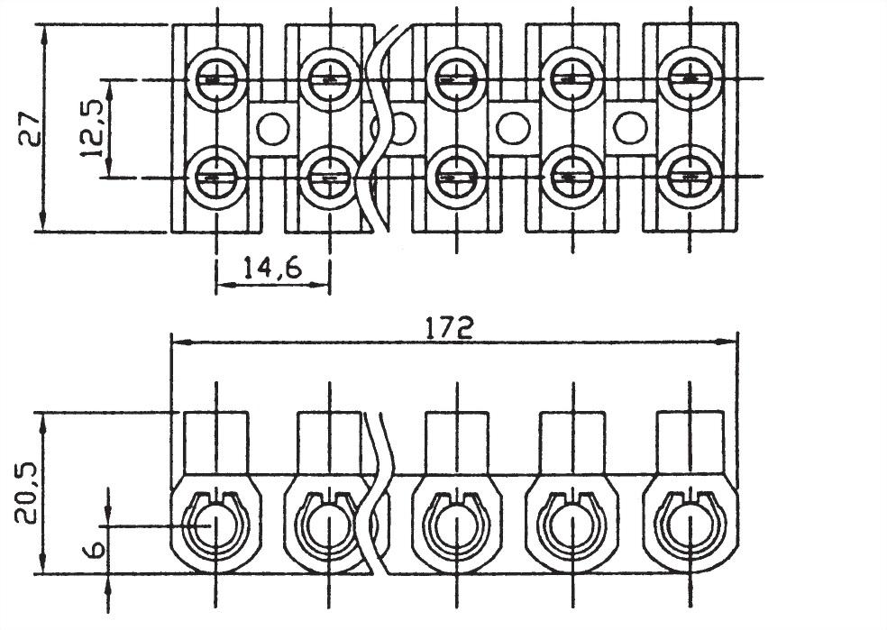 軟式歐規端子台 TB2512