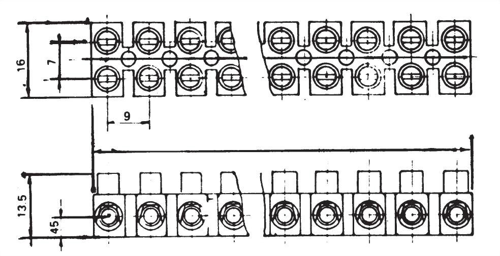 軟式歐規端子台 TB612