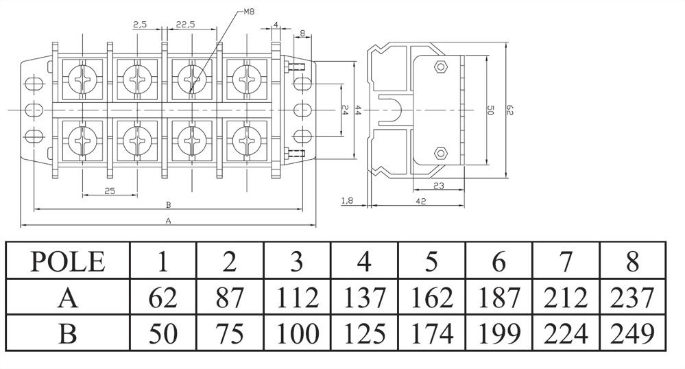 組合式端子台 AT100