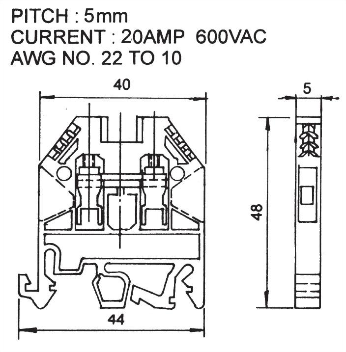 歐規端子台 ATB-2.5