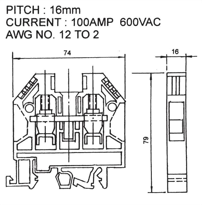 Screw Clamp Terminal Blocks ATB-35