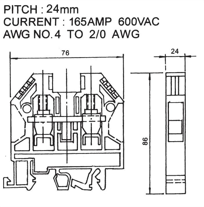 歐規端子台 ATB-70