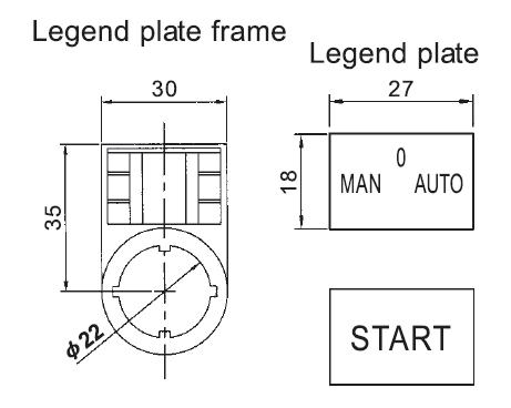 Switch Legend Plate Frame PF-B22