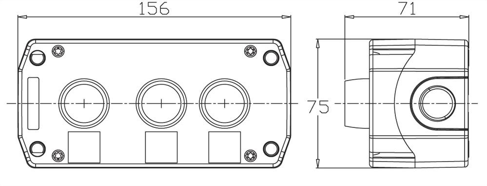 控制盒 B3-PB-2O1C
