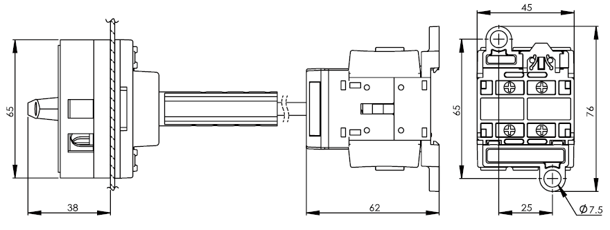 Base Mounting Main Switch DS16-25-40-BR1R 2