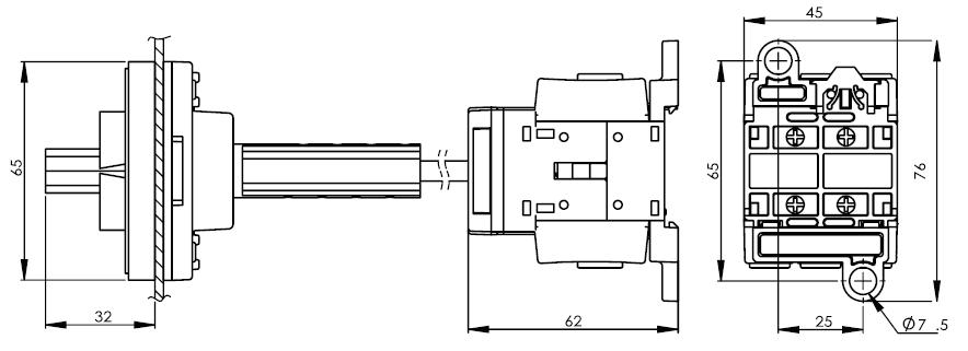 底座安裝主開關25安培 DS16-25-40-BSR 2