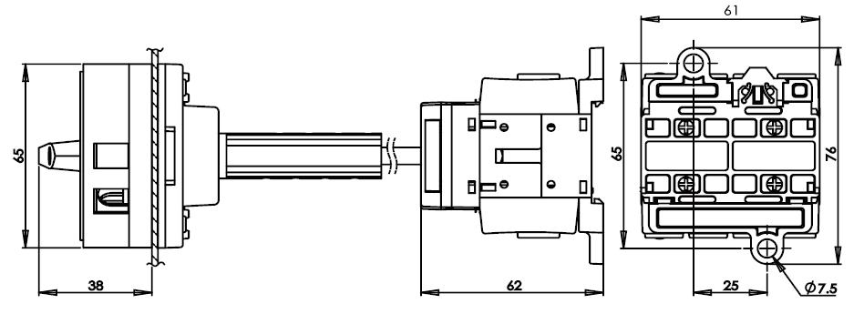 底座安裝主開關25安培 DS416-425-440-BR1R 2