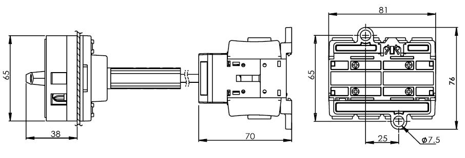 底座安裝主開關25安培 DS463-480-BR1R 2