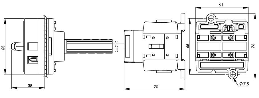 底座安裝主開關25安培 DS63-80-BR1R 2