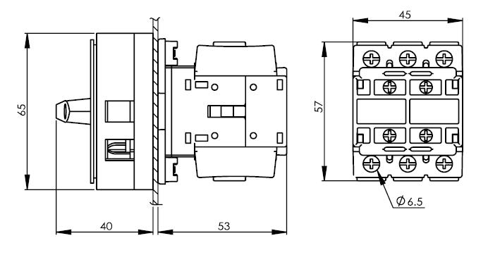 面板安裝主開關16安培 DS16-25-40-PR1R 2