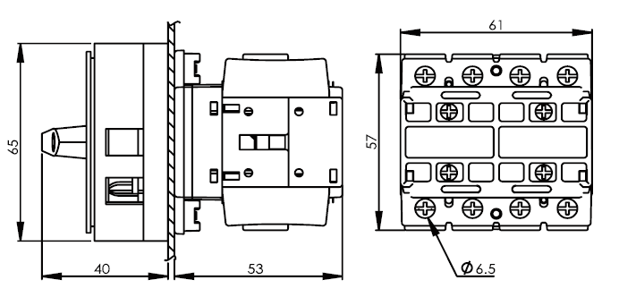 面板安裝主開關16安培 DS416-425-440-PR1R 2