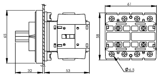 面板安裝主開關16安培 DS416-425-440-PSR 2