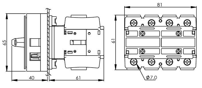 面板安裝主開關16安培 DS463-480-PR1R 2