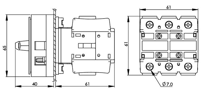 面板安裝主開關16安培 DS63-80-PR1R 2