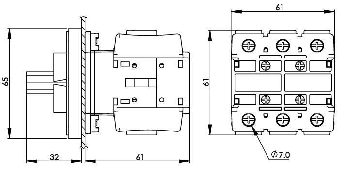 面板安裝主開關16安培 DS63-80-PSR 2