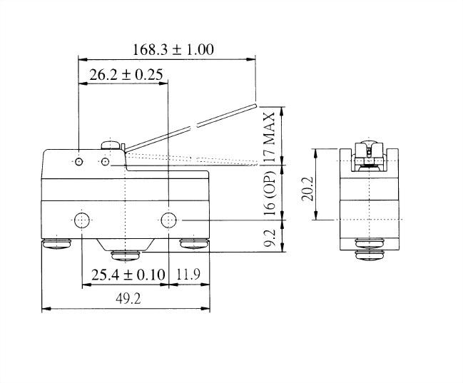 AM系列微動開關 AM-1578 2