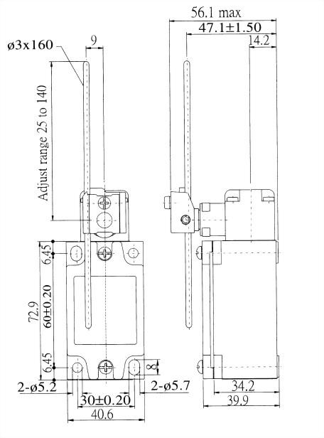 AZ-5系列限位開關 AZ-5107 2