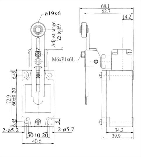 AZ-5 Series Limit Switches AZ-5108 2