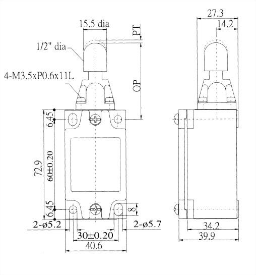AZ-5系列限位開關 AZ-5109 2