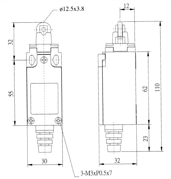 AZ-9迷你限光開關 AZ-9112 2