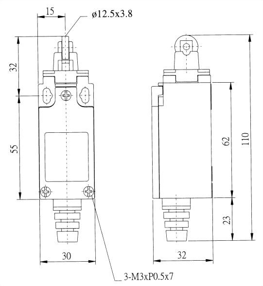 AZ-9迷你限光開關 AZ-9122 2