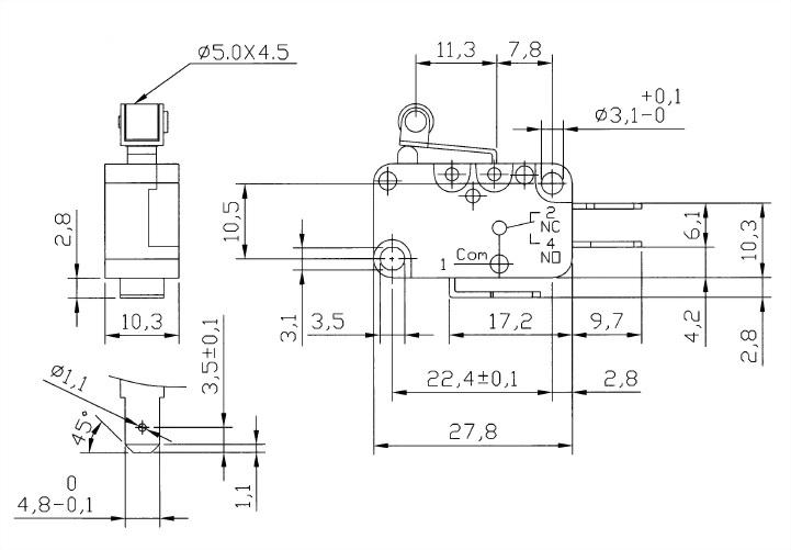 V15 Series Micro Switches V15-187-05 2