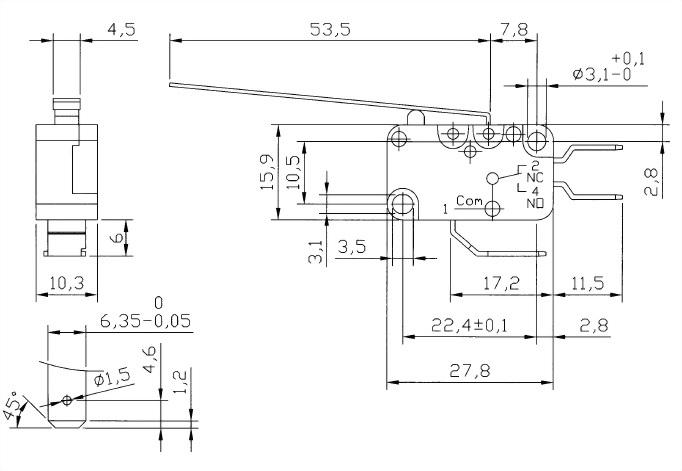 V15系列微動開關 V15-250-03 2