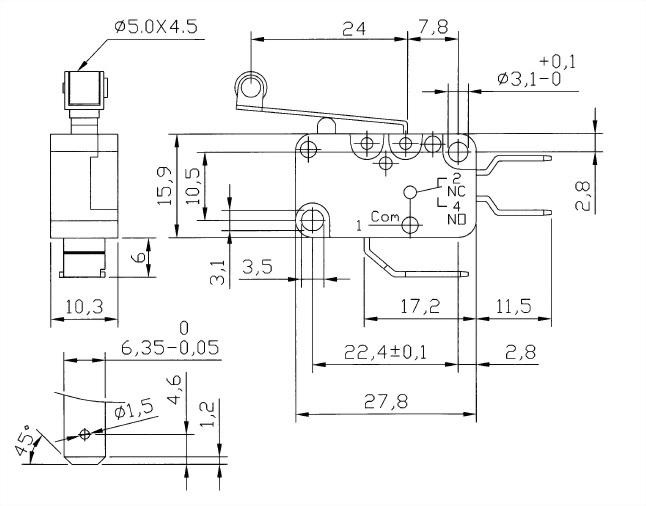 V15系列微動開關 V15-250-06 2