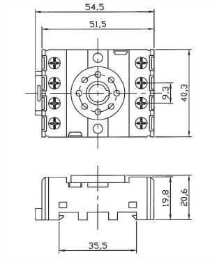 Relay Socket PF083AE