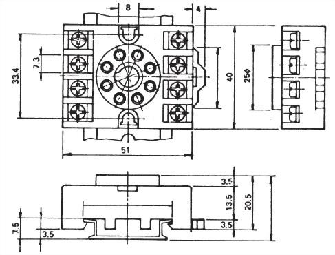Relay Socket PF083N