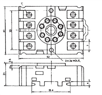 繼電器插座 PF085A