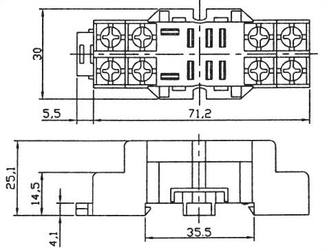 Relay Socket PTF08A