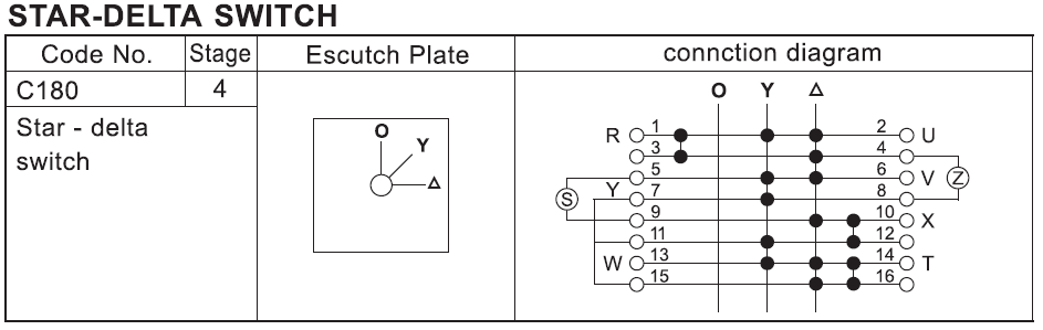 25A Star-Delta Switches