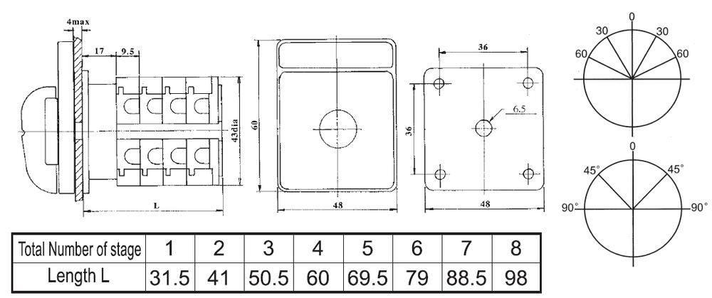 电压表开关VS34 2