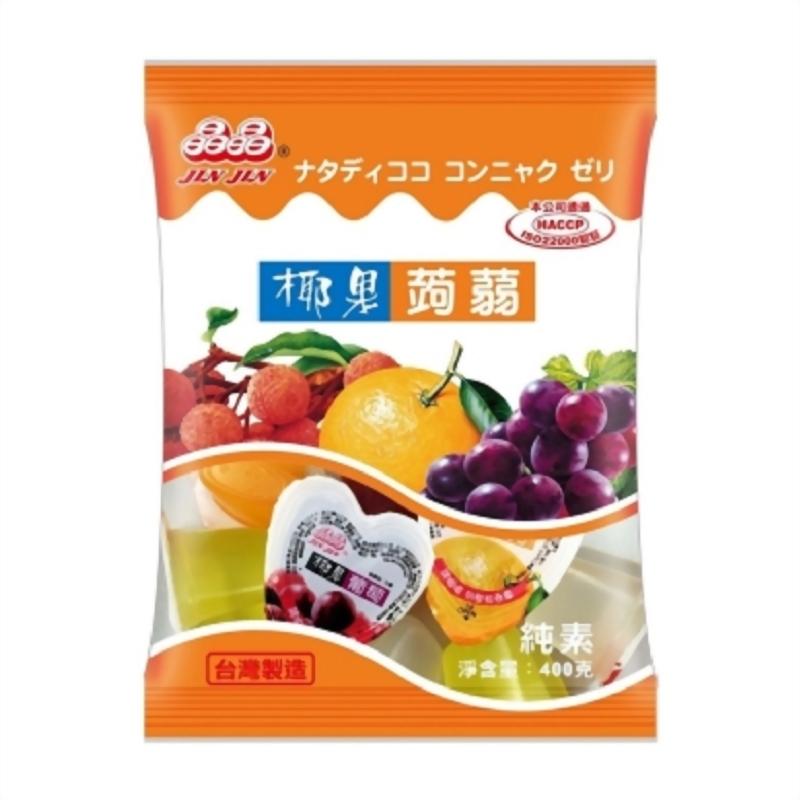 心型椰果蒟蒻果凍400g