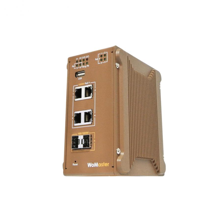 DP406 工業級 PoE 供電交換器