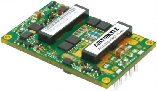 AGQ200 Series 1/4磚電源模塊