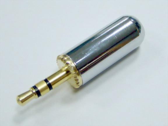 3.5mm Stereo Plug, Pale Chrome Plated