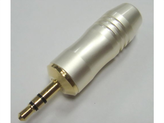 3.5mm Stereo Plug,Pearl White Handle