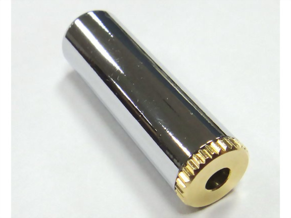 3.5mm Stereo Jack, Pale Chrome Plated