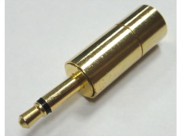 3.5mm Mono Plug, Shielded (ID=3.0mm)