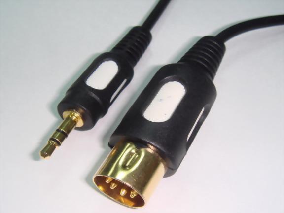5P Din Plug - 3.5mm Stereo Plug,